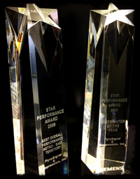 2009 Crystal Award Pieces